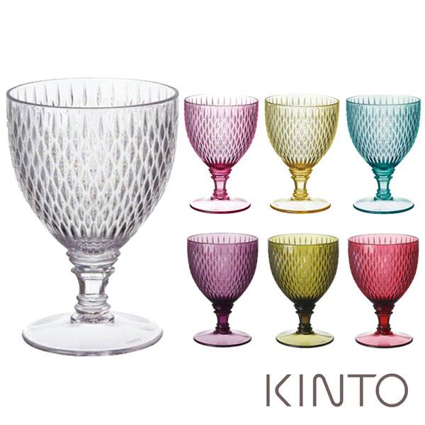 キントー KINTO ロゼット ワイングラス 250ml クリア ROSETTE