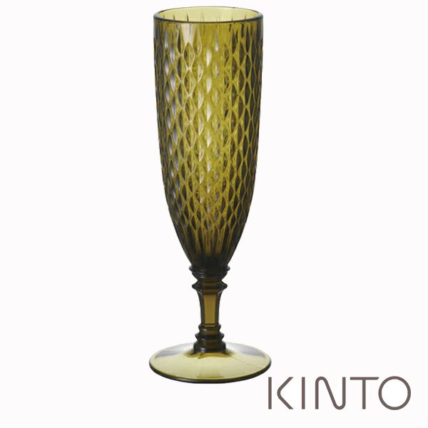 キントー KINTO ロゼット ROSETTE シャンパングラス 160ml グリーン