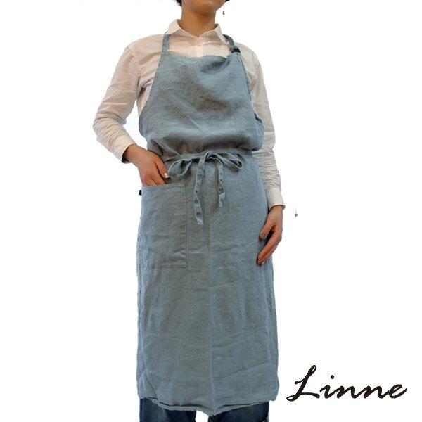 エプロン ライトブルー リンネ(Linne)