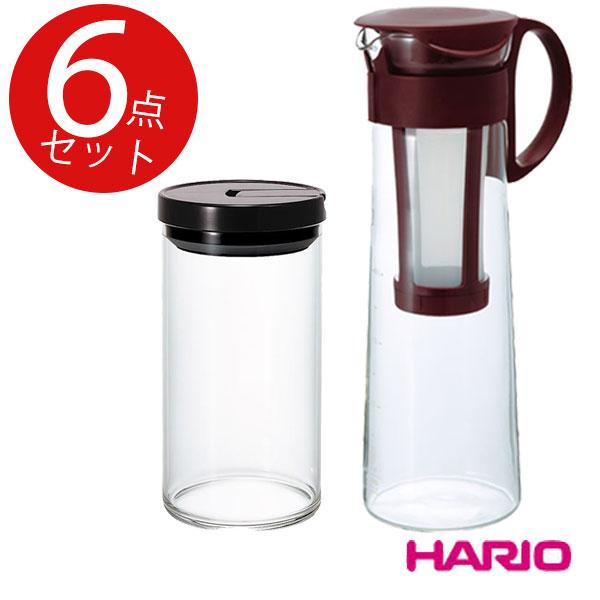 ハリオの美味しいアイスコーヒー用2点セット(水出しポット・珈琲キャニスタL)