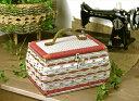 国産・手編みのソーイングバスケット(裁縫箱・裁縫かばん)結婚お祝い最適品 クラフト・バニラ 贈り物...