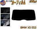 リアガラスのみ (b) BMW X5 E53 カット済みカーフィルム カッ...