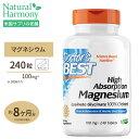 マグネシウム 高吸収型 240粒 Doctor's BEST(ドクターズベスト)Mg ミネラル マグ doctors サプリ サプリメント 健康 おなか 腹 1