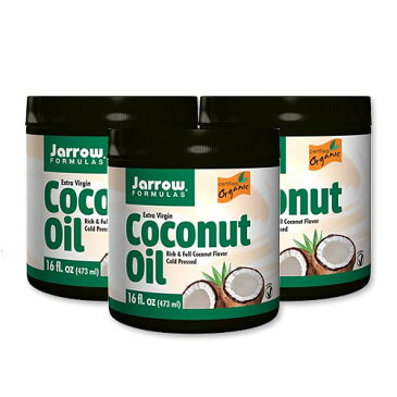 [3個セット]ココナッツオイル エキストラバージンココナッツオイル 473ml 食品 調味料 油 エキストラバージン ダイエット Jarrow Formulas