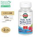 葉酸メチルB-12 アクティブメルト(チュアブル) ラズベリー 800mcg 60粒 KAL(カル)フォレート ママ マタニティ ビタミン