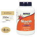 ナイアシン 500mg 250粒 NOW Foods(ナウフーズ) 1
