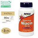 フラッシュフリーナイアシン 250mg 90粒 NOW Foods(ナウフーズ) その1