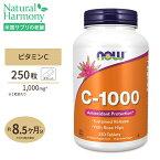 ビタミンC-1000 with ローズヒップ タイムリリース 1000mg 250粒 NOW Foods(ナウフーズ)