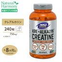 クレアルカリン (進化型クレアチン) 750mg 240粒 NOW Foods(ナウフーズ)