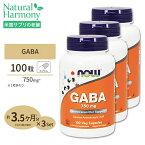 [3個セット]GABA(ギャバ) 750mg 100粒 NOW Foods(ナウフーズ)【ポイントUP2倍★11/17 18:00〜12/4 9:59】