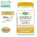 ビタミンC サプリメント +ローズヒップビタミンC-1000 with ローズヒップ 100粒サプリ サプリメント 健康サプリ ビタミン類 ビタミンC配合