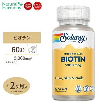 ビオチン(ビタミンH) 5000mcg 60粒 60日分 タイムリリース美容 ヘアケア サプリメント 健康 サプリ ビタミン ビオチン 肌 髪