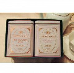 ≪送料無料≫ホット・シナモン・スパイス&ドラゴンパール・ジャスミン、ギフトボックス Hot Cinnamon Spice & Dragon pearl jasmine GiftBOX【ハーニー&サンズ】【Harney&Sons】【ニューヨーク】【ギフト】【フレーバー】【ティー】【RCP】【楽ギフ_のし】