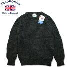 TRADHOUNDトラッドハウンドアルパカウールクルーネックセーターイギリス製チャコール