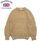 TRADHOUNDトラッドハウンドアルパカウールクルーネックセーターイギリス製キャメル