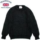 TRADHOUNDトラッドハウンドアルパカウールクルーネックセーターイギリス製ブラック