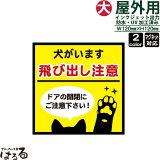 【メール便対応】いぬの前足/正方形(大サイズ)犬がいます 飛び出し注意インクジェットステッカー車両用マグネット対応ドアの開閉にお気をつけ下さい【ペット・動物】