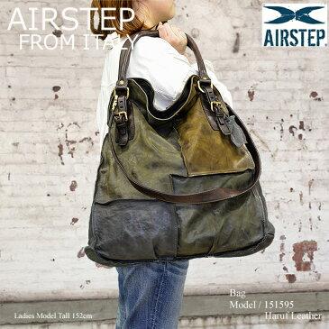【AIRSTEP】レザーバッグ ショルダーバッグ レディース 本革 イタリア製 大容量バッグ a4 通勤 旅行 日帰り メッセンジャーバッグ ハンドバッグ レディース大人 カバン 鞄 レザー 151595