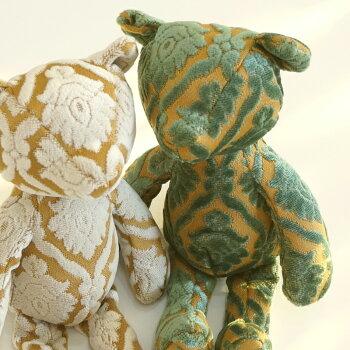 テディベアCharme&Voyage(シャルム&ボヤージュ)TeddyBear[PR:レディース家族かわいい可愛いおしゃれぬいぐるみプレゼント通勤通学ベロアテキスタイル花柄ストライプ牛革サブバッグパーティー一泊旅行日帰りくまママ女性カバン]