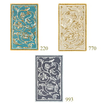【ラグマット/ラメ】ABYSS&HABIDECOR(アビス&ハビデコール)DYNASTY140×200cm[PR:ラグ高級モダンブランドおしゃれ洗えるインテリアリビングマットカーペット絨毯じゅうたん綿コットン大判厚手自然オリエンタル植物花柄140200]