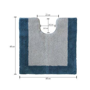 トイレマット綿100%ABYSS&HABIDECOR(アビス&ハビデコール)ORIGINE60×60cm楽天市場限定モデル