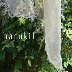 harukii/ぼかし染ラミー薄羽ストールL夏霞