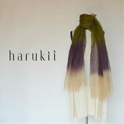harukii/ぼかし染ラミー薄羽ストールL松風