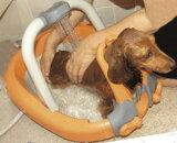 犬のシャンプーが楽なパピーバス オレンジ パピィバス 小型犬 シャワー 散歩 足の泥 犬の風呂 ワンちゃん シャンプー