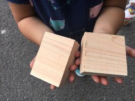 ダンボールいっぱいのヒノキ!小さな木端材キューブ