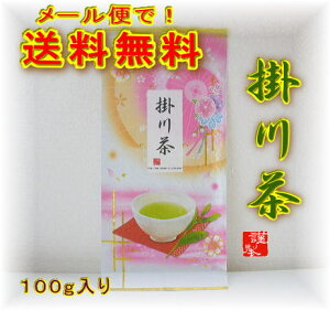 静岡県掛川産の深むし茶100g入りです。☆送料無料で【お試し】の嬉しい商品ですよ!掛川茶の中...