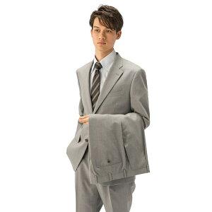 【値下げ】スーツ メンズ 背広 スーツ 2つボタン 2ピース ツーパンツ パンツウォッシャブル ワンタック 軽量 ストライプ グレー 春夏 ウール混 ゆったり KANSAIYAMAMOTO カンサイ ファッション スーツのはるやま 父の日 父の日ギフト