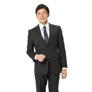 スーツ メンズ 背広 メンズスーツ 2つボタン 2ピース パンツウォッシャブル ノータック 防シワ ブランド ストライプ ブラック 秋冬 ウール混 スリム PinkyWolman ピンキーウォルマン メンズファッション スーツのはるやま