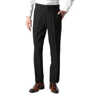 【ウォッシャブルスラックス】清潔パンツ 春夏 ワンタック ブラック 無地 お買い得 はるやま クールビズ 涼しい スラックス