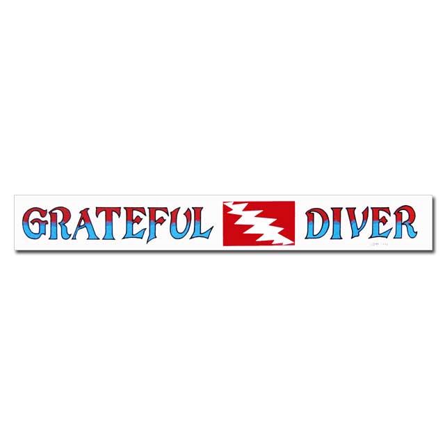 GRATEFUL DEAD DIVER BUMPER WINDOW STICKER / グレイトフルデッド ダイバー バンパー ウィンドウ ステッカー / シール 裏貼り画像