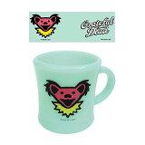 【 GRATEFUL DEAD BEAR HEAD MUG CUP グレイトフル デッドベア ヘッド マグカップ 】ファイヤーキング風 コップ アメリカン雑貨