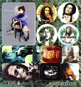 【 MARLEY MINI STICKERS #2 NO SMOKE 】【 Bob Marley ステッカー シール 】ボブ・マーリー レゲエ ジャマイカ ラスタファリ