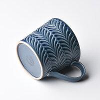 ローズマリーデニムマグカップ【波佐見焼き】石丸陶芸ミニョン彫りギフト無料ラッピングプレゼント北欧風大きめ茶色