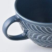 ローズマリーデニムスープカップ【波佐見焼き】石丸陶芸ミニョン彫りギフト無料ラッピングプレゼント北欧風大きめ茶色