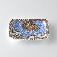 青海波地紋雪輪銘々皿【波佐見焼き】石丸陶芸林九郎窯オリジナル商品です。お目でたい文様の上品な赤絵の銘々皿ギフト、お祝いの席に最適!