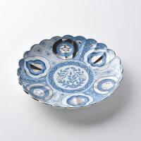 コトホグ6号皿18cm皿・青【波佐見焼】石丸陶芸ミニョン古伊万里