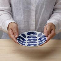 aoba15.5cm丸皿【波佐見焼き】石丸陶芸ミニョンあおば青葉取り皿北欧風ギフト無料ラッピング小皿手書き手描き葉っぱ