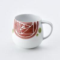 ガーデンローズマグカップ赤【波佐見焼】