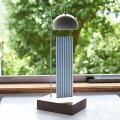 インテリア風鈴スタンドウインドチャイム陶器磁器窓辺やテーブルに置くモダンで美しいデザイン日本の伝統技法千筋柔らかく美しい音色短冊は伝統模様の縞模様風通しを良く風の流れを見る微風でも好く鳴る工夫エアコンをかけても窓を開けて