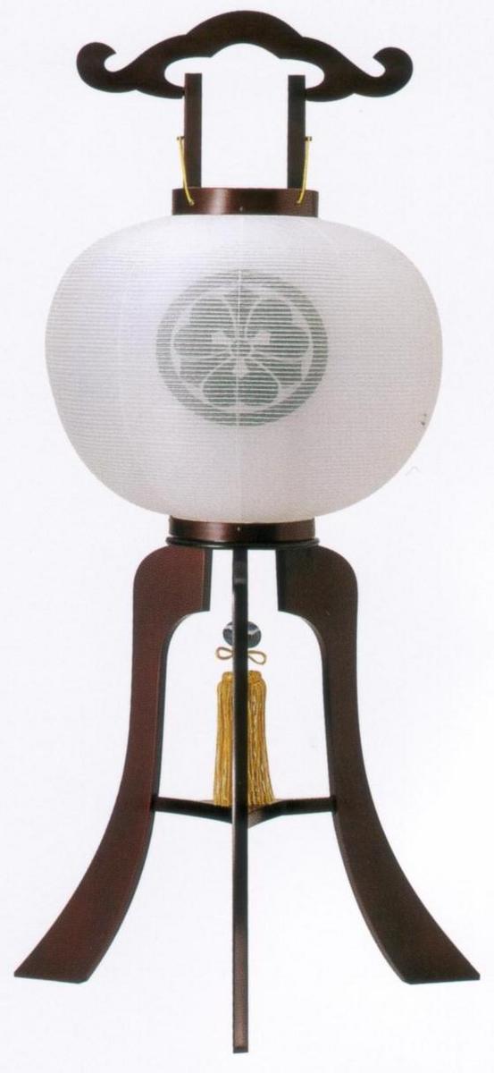 盆提灯 一対  さくら調 14号 木製 白絹二重張【家紋入】:仏壇仏具 神棚 数珠のLifeハセガワ
