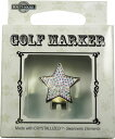 【普通郵便で送料無料】スワロフスキー付ゴルフマーカー(BG-4)Golf Marker with Swarovski