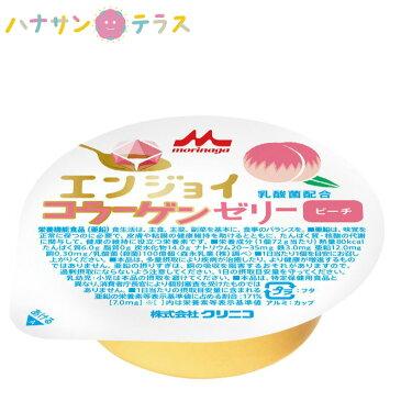 介護食 エンジョイコラーゲンゼリー ピーチ 72g クリニコ 森永 森永乳業 日本産 栄養補助 ゼリー 栄養補給 栄養補助 ゼリー 亜鉛 桃 もも モモ
