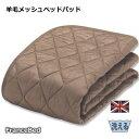 フランスベッド 羊毛メッシュベッドパッド ウォッシャブル 羊毛ベッドパッド ワイドシングル 110×195cm 【RCP】