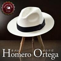 パナマハット 中折れハット Homero Ortega オメロオルテガ BISHOP ビショップ メンズ レディース 男性 女性 パナマ帽 帽子 ハット エクアドル製 本パナマ草 トキヤ草 手編み ストローハット 麦わらパナマ帽 帽子 大きいサイズ 父の日 ギフト あす楽