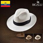 パナマハット メンズ レディース パナマ帽 中折れ帽子 フェドラハット 帽子 紳士 春夏 大きいサイズ 紳士帽 メンズ帽子 ギフト プレゼント 送料無料 あす楽 S M L XL エクアドル製 BIGALLI [パペール]