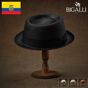 パナマハット パナマ帽 メンズ レディース ポークパイ ハット 帽子 紳士 春 夏 春夏 大きいサイズ S M L XL エクアドル製 BIGALLI [レドンド] 紳士帽 メンズ帽子 ギフト プレゼント あす楽 送料無料